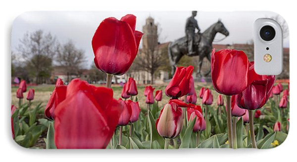 Tulips At Texas Tech University IPhone Case