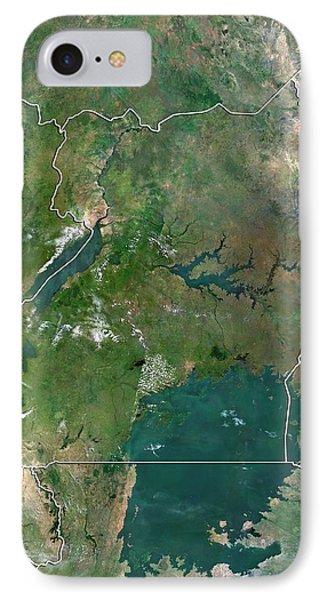 Republic Of South Africa iPhone 8 Case - Uganda by Planetobserver/science Photo Library