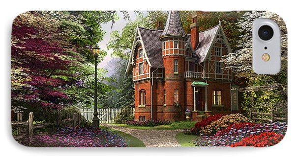 Victorian Cottage In Bloom IPhone Case