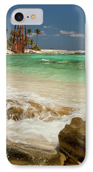 Belize iPhone 8 Case - View Of Lighthouse On Half Moon Caye by Michele Benoy Westmorland