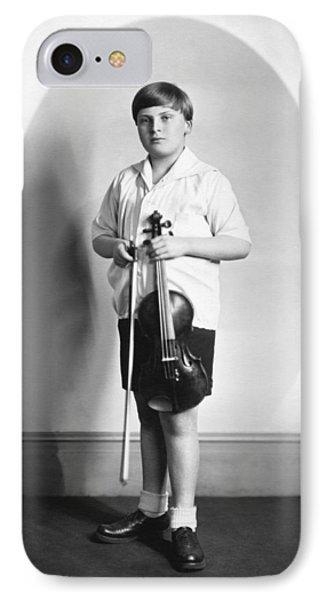 Violin iPhone 8 Case - Violinist Yehudi Menuhin by Underwood Archives