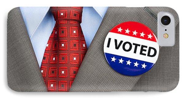 Vote Badge On Tan Suit IPhone Case