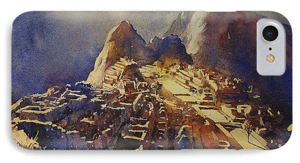 Watercolor Painting Machu Picchu Peru IPhone Case