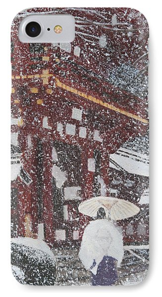 Winter Scene From Japan IPhone Case