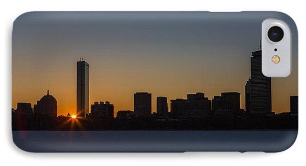 Winter Sunrise On The Charles II IPhone Case