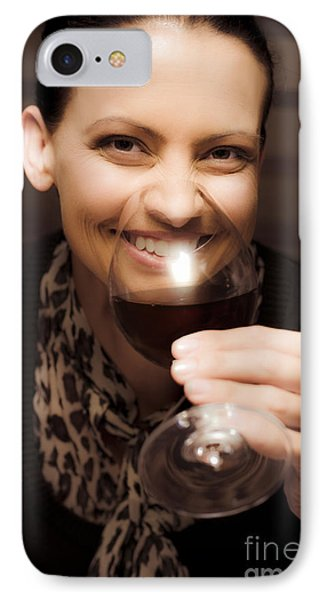 Woman At Winery IPhone Case