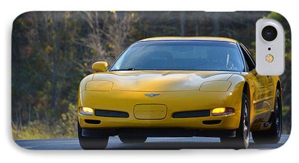 Yellow Corvette IPhone Case