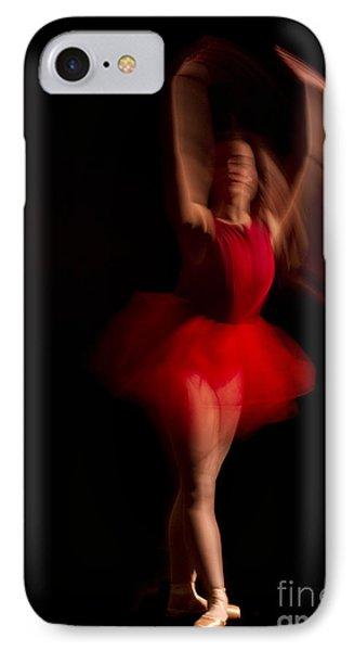Ballet Dancer In Red Tutu IPhone Case
