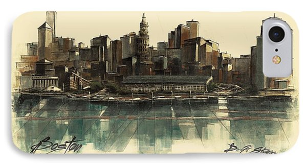 Boston Skyline IPhone Case