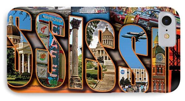 12 X 36 Horizontal Mississippi Postcard Version 1 IPhone Case