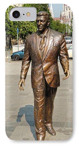 Budapest Hungary - Ronald Reagan Statue IPhone Case