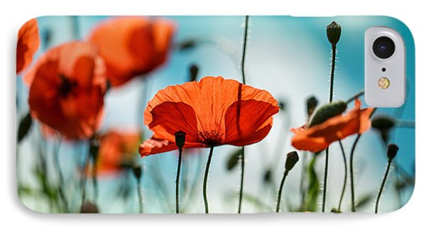 Nature iPhone 8 Case - Poppy Meadow by Nailia Schwarz