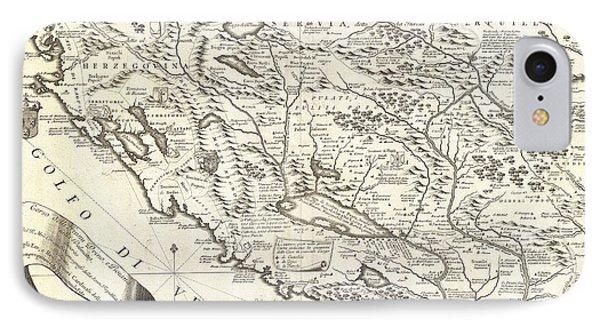 1690 Coronelli Map Of Montenegro IPhone Case