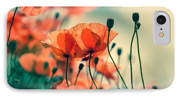 Flowers iPhone 8 Case - Poppy Meadow by Nailia Schwarz