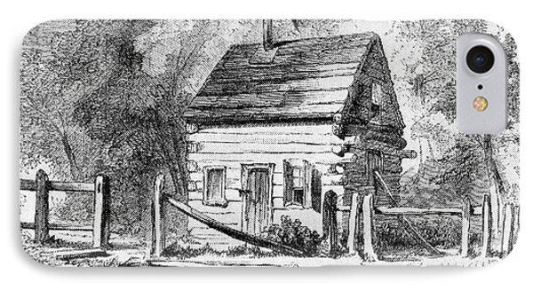 1800s 1850s The Log Schoolhouse IPhone Case