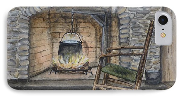 1800s Cozy Cooking .... Fire Place IPhone Case