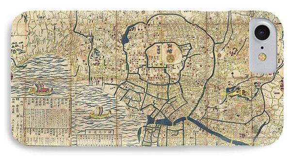 1849 Japanese Map Of Edo Or Tokyo IPhone Case