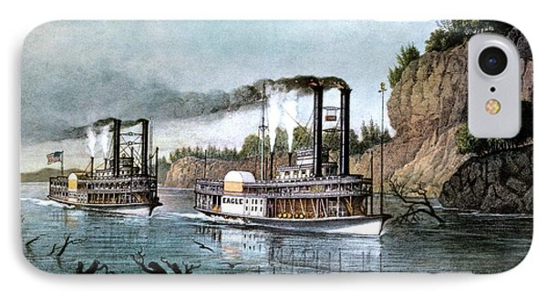 1850s A Race On The Mississippi - IPhone Case