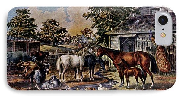 1850s American Farmyard Morning - IPhone Case