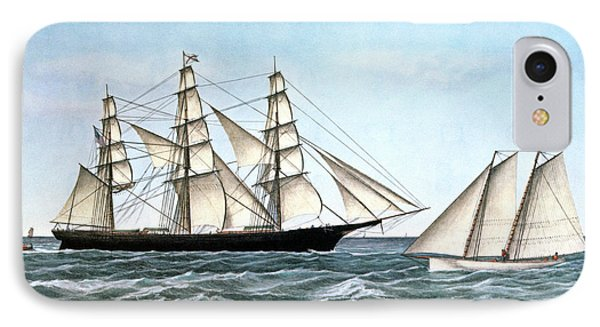 1850s Clipper Ship Ocean Express - IPhone Case