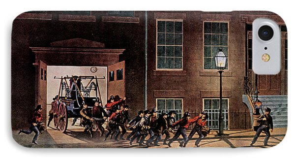 1850s Life Of A Fireman The Night Alarm IPhone Case