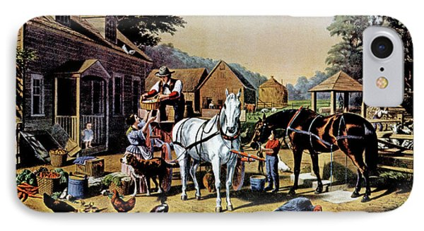 1850s Preparing For Market - Currier & IPhone Case
