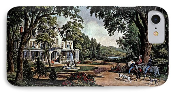 1850s Summer In The Country - Currier & IPhone Case