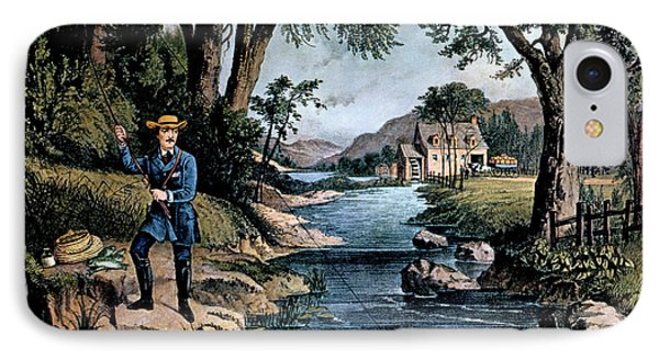 1850s The Trout Pool Fishing - Currier IPhone Case