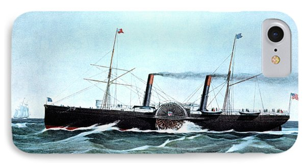 1850s Us Mail Steamship Adriatic 1350 IPhone Case