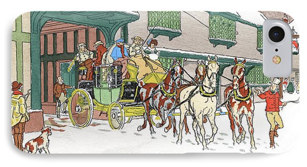 1850s Victorian Coaching Scene Carriage IPhone Case