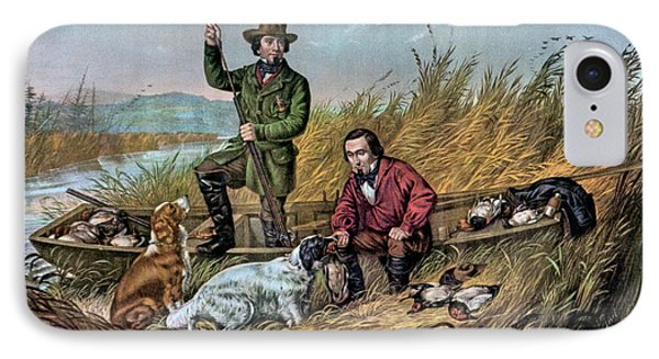 1850s Wild Duck Shooting - Two Hunters IPhone Case