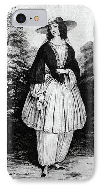 1850s Woman Wearing The Bloomer Costume IPhone Case