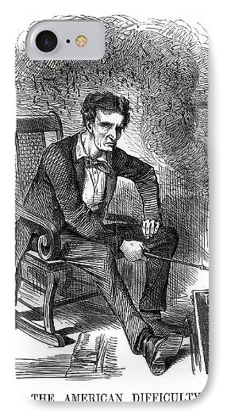 1860s 1861 Punch Cartoon Abraham IPhone Case