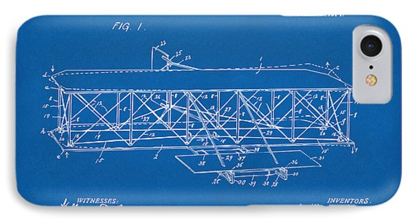 1906 Wright Brothers Flying Machine Patent Blueprint IPhone Case