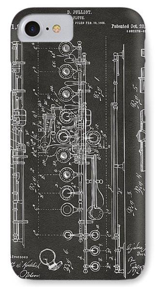 1908 Flute Patent - Gray IPhone Case