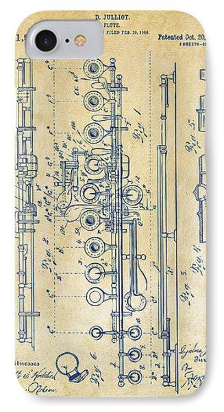 1908 Flute Patent - Vintage IPhone Case