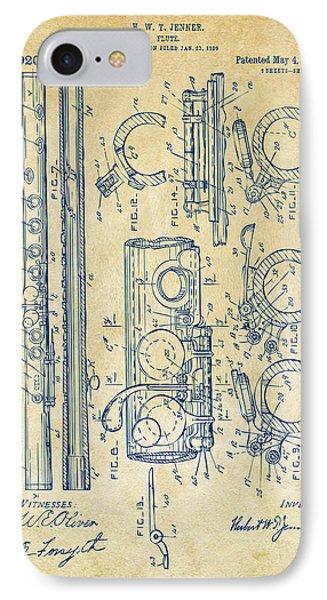 1909 Flute Patent - Vintage IPhone Case