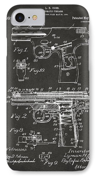1911 Automatic Firearm Patent Artwork - Gray IPhone Case
