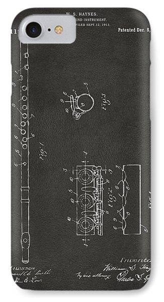 1914 Flute Patent - Gray IPhone Case