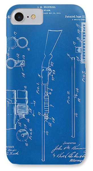 1915 Ithaca Shotgun Patent Blueprint IPhone Case