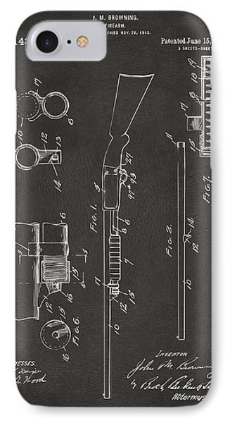 1915 Ithaca Shotgun Patent Gray IPhone Case