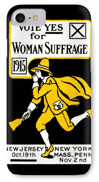 1915 Vote Yes On Woman's Suffrage IPhone Case