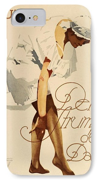 1920 - Guta Stockings Advertisement - Ludwig Hohlwein - Color IPhone Case