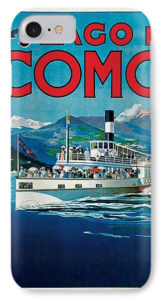 1920 Lago Di Como Vintage Travel Art  IPhone Case