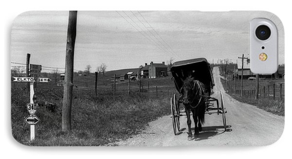 1920s 1930s Amish Man Driving Buggy IPhone Case