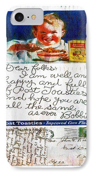 1921 Post Toasties Postcard IPhone Case