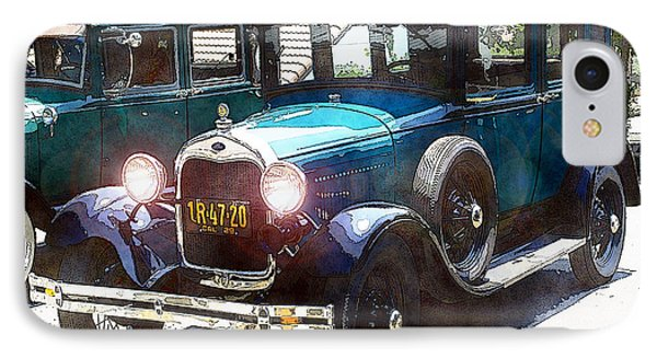 1927 Ford Lights On IPhone Case