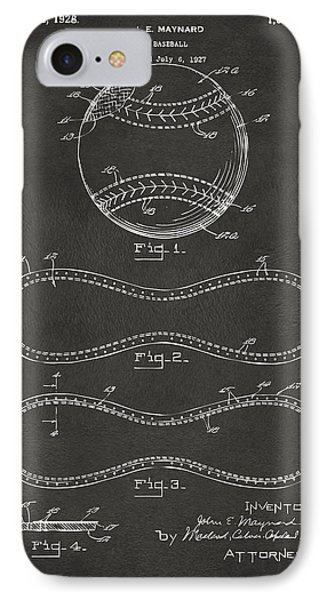 1928 Baseball Patent Artwork - Gray IPhone Case