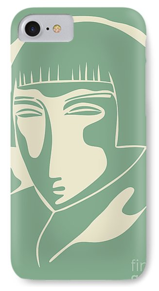 1928 Woman Face  Green IPhone Case