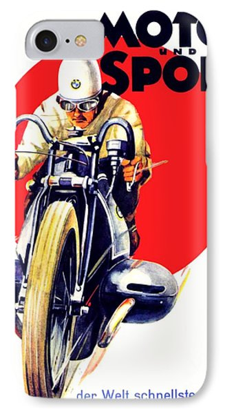1929 - Bmw Motorcycle Poster - Color IPhone Case